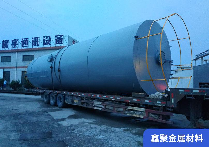 大型卷圓加工-某海綿廠儲油罐